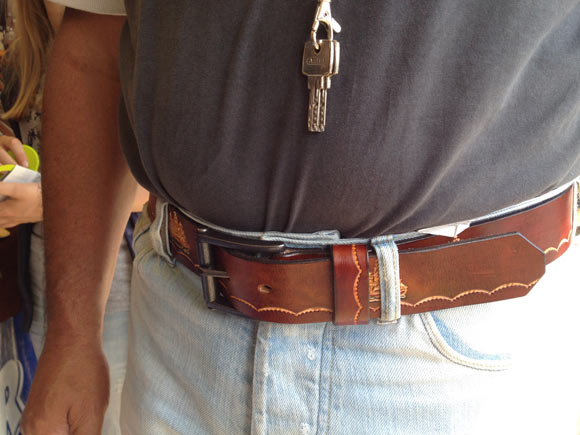 Handcrafted belt made by the Trapper..